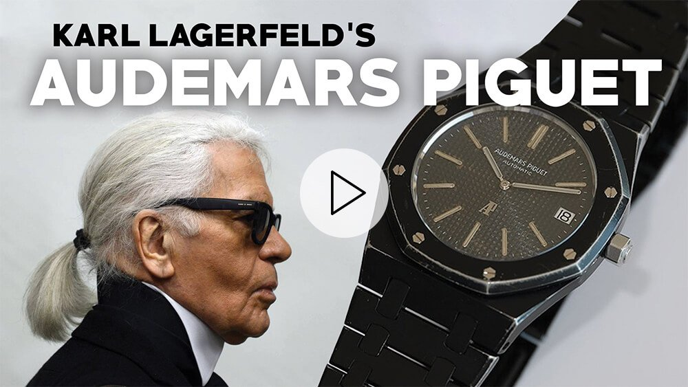 Karl Lagerfeld's ONE OF A KIND WATCH: Audemars Piguet Royal Oak Blacked Out