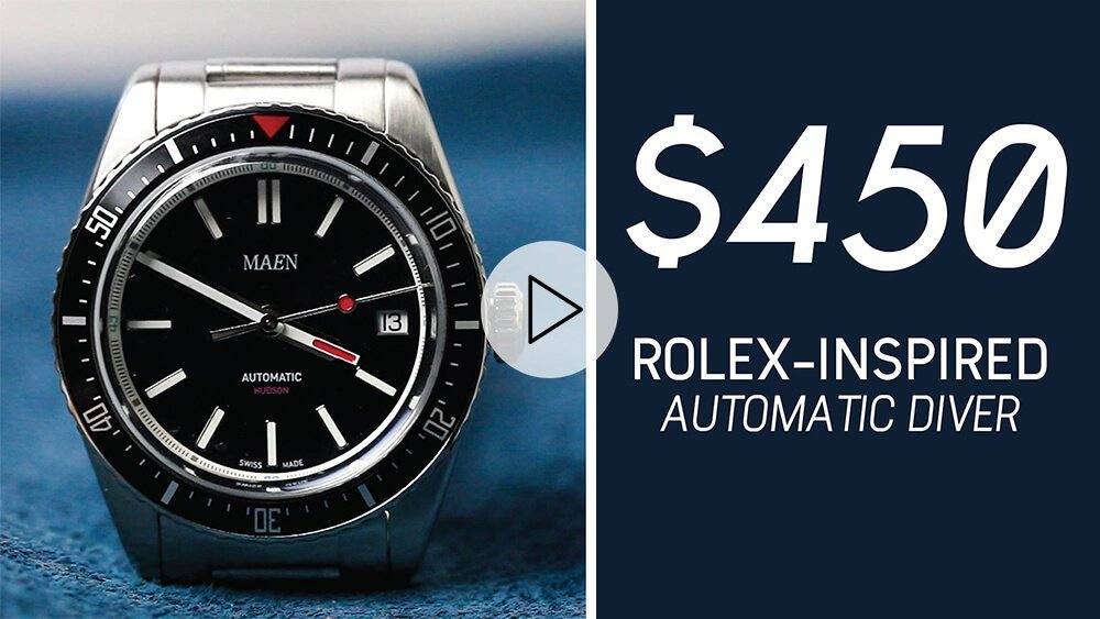 RANT&H: Reviewing a $450 Rolex-Inspired Dive Watch // MAEN Hudson Automatic