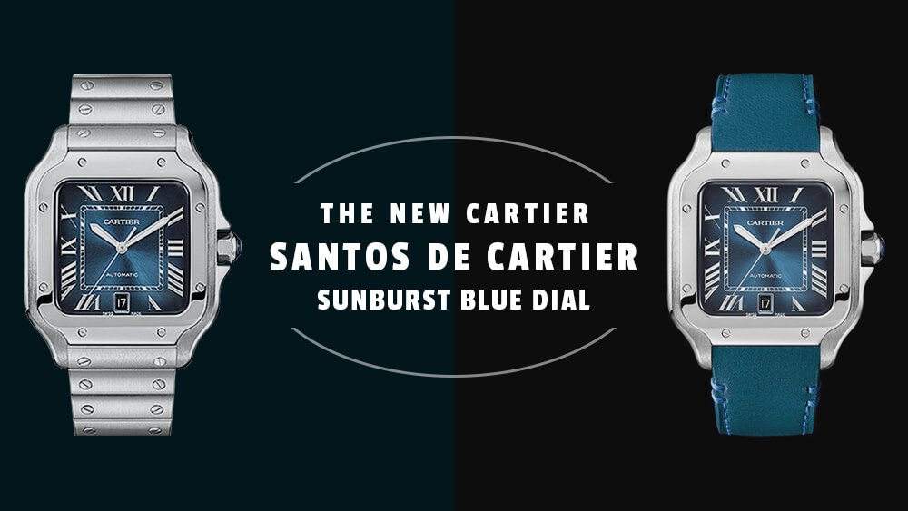 A Blue (Belated) Christmas: The New Cartier Santos de Cartier Sunburst Blue Dial