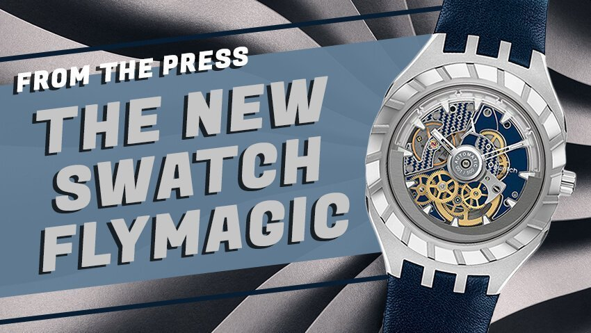 Swatch Steps Up Their Mechanical Game (Again) with the Swatch Flymagic