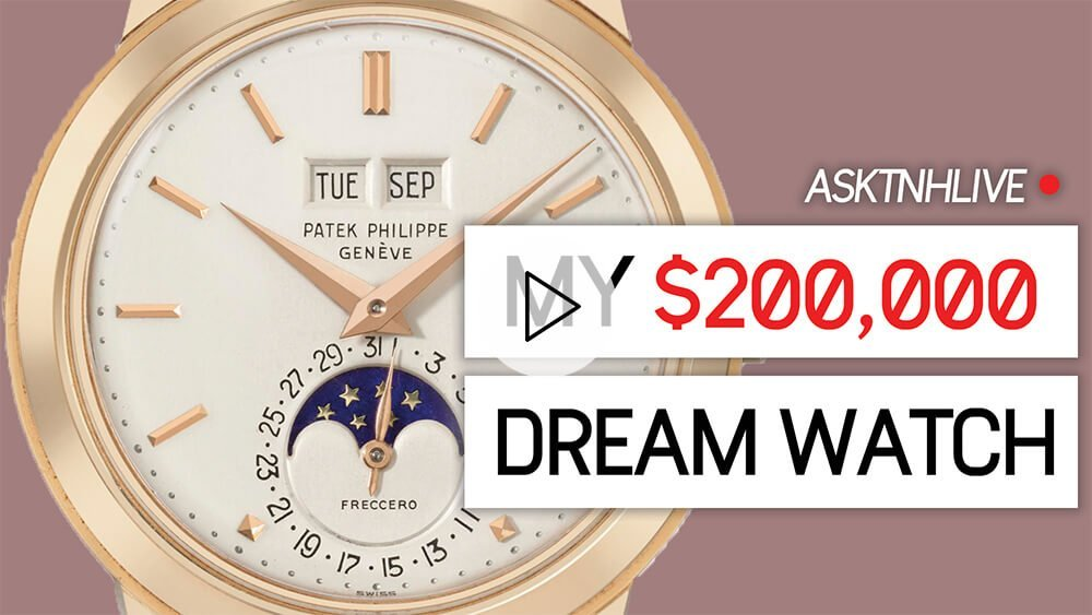 My Dream $200,000 Patek Philippe Watch + Questions LIVE