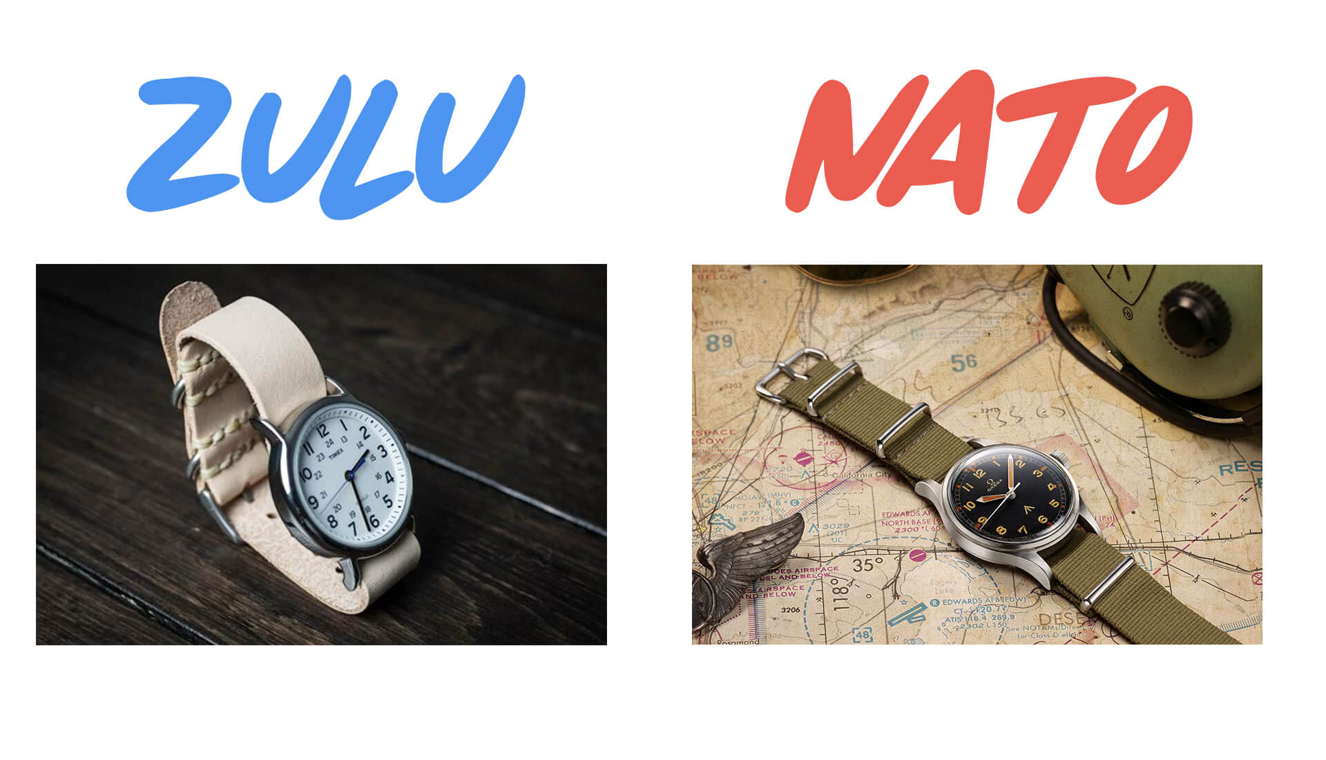 Watch 101: What is the Difference Between a NATO Strap and a Zulu Strap?