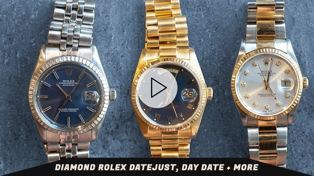 Diamond Rolex Datejust, Day Date + More