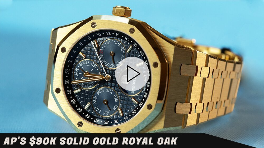Audemars Piguet's $90k Solid Gold Royal Oak