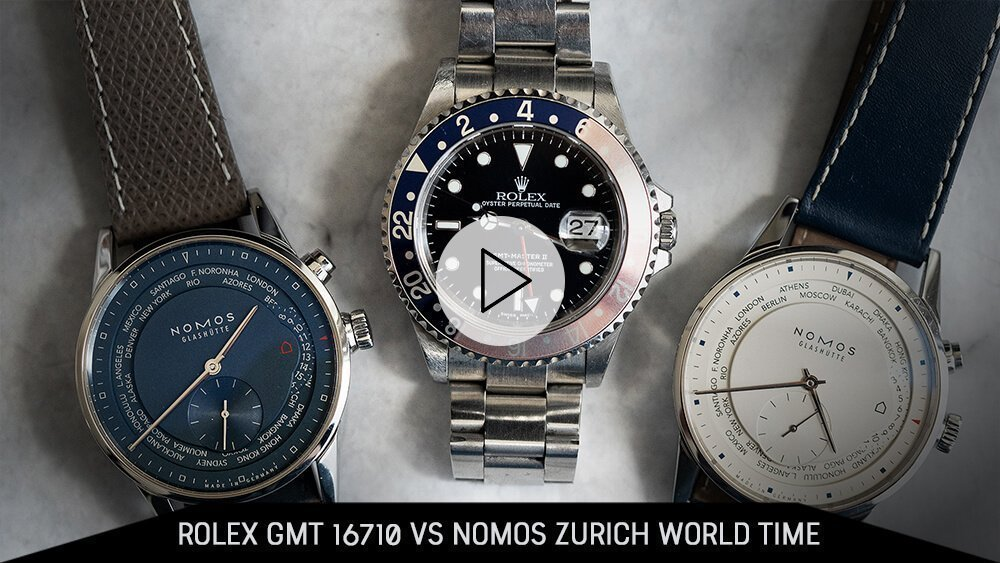 Rolex GMT 16710 versus Nomos Zurich World Time