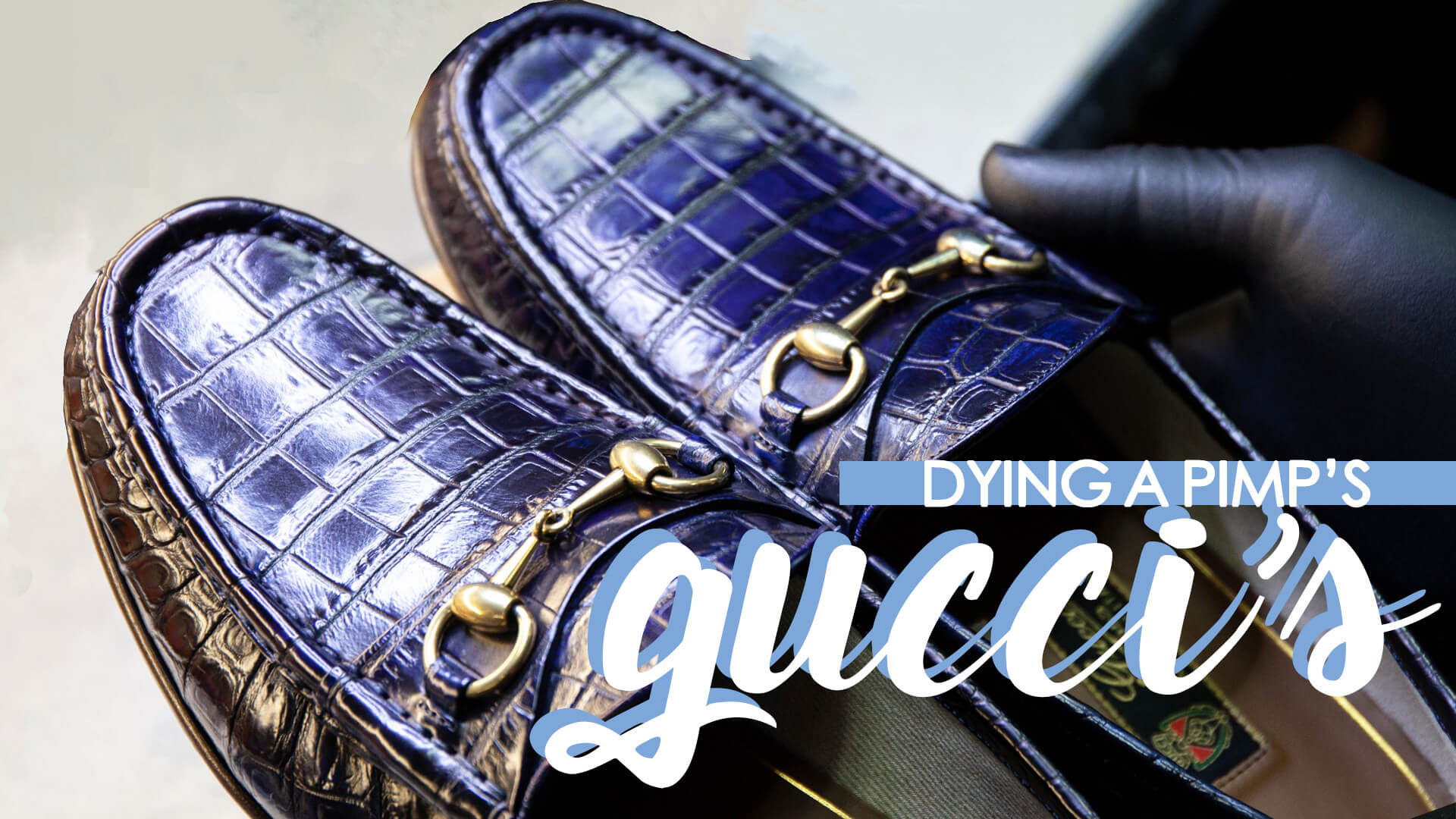 Off Topic: Repairing Gucci Loafers From A PIMP!
