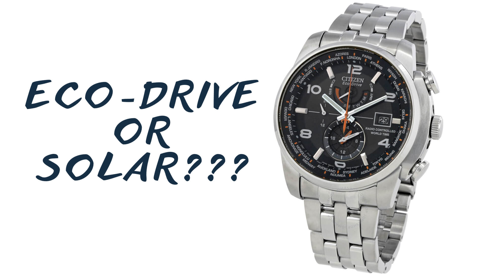 Watch 101: What's the Difference Between Eco-Drive and Solar Powered Watch Movements?