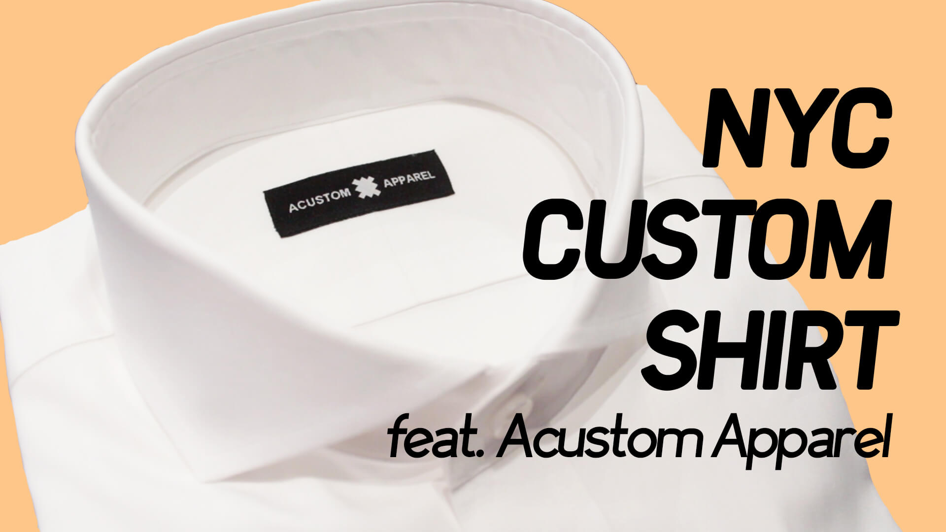 Off Topic: My NYC Custom Shirt (feat. Acustom Apparel)