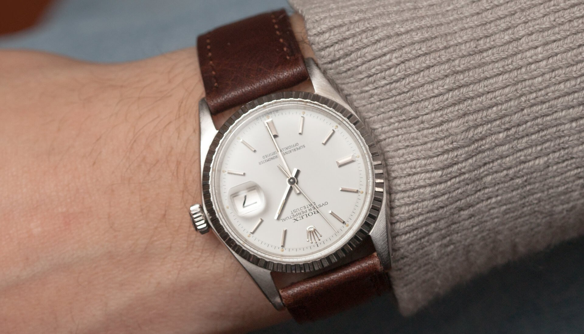 "In The Metal: A Rolex ""Snow White"" Datejust, Air King, & Gold Omega Seamaster"