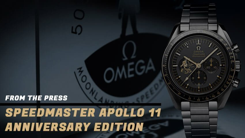 Omega Celebrates the 50th Anniversary of the Moon Landing with the Speedmaster Apollo 11 Anniversary Edition