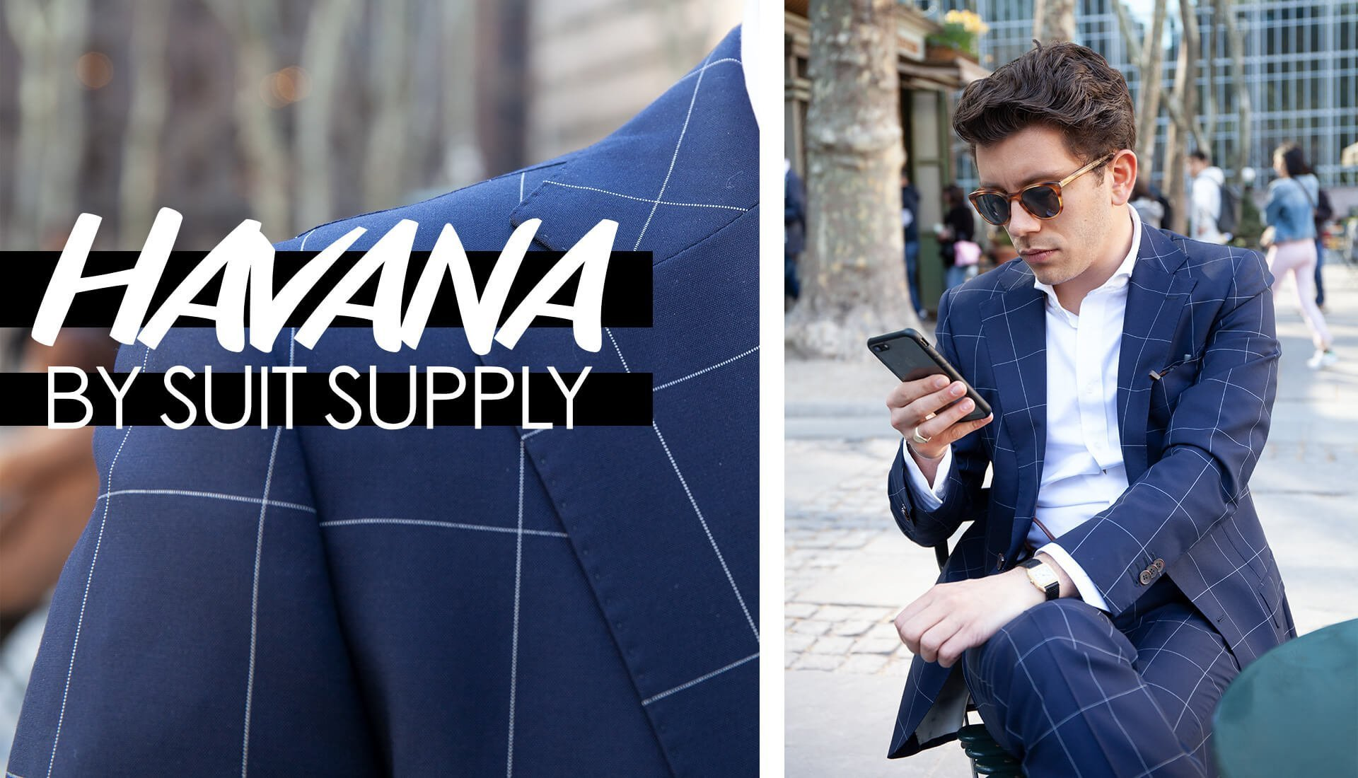 "Off Topic: A SUIT SUPPLY Review, The ""Havana"" in Navy Windowpane"